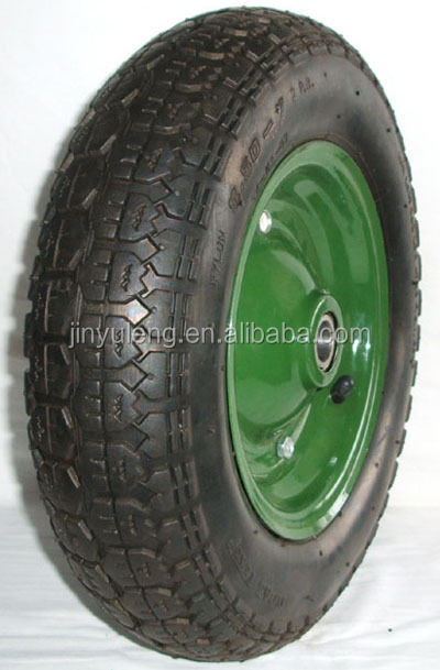3.50-8 400-8 rubber wheel ,tire / pneumatic wheel ,inflatable wheel for wheelbarrow, wagon