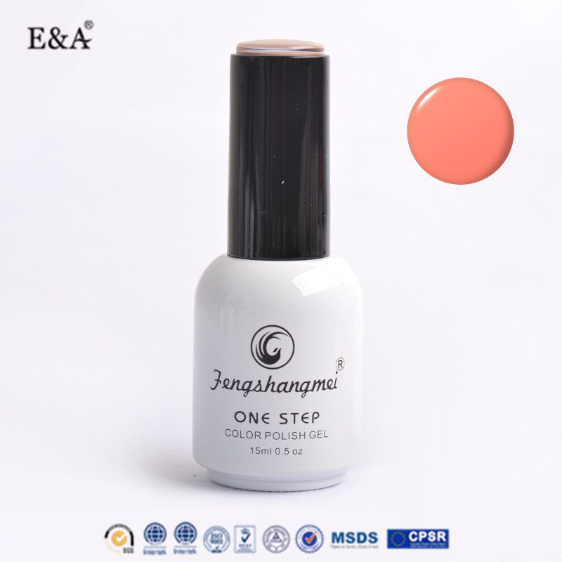 EA colorful peel off private label gel polish 15ml OEM one step gel polish