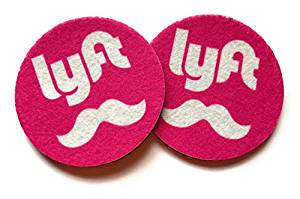 Lyft Cup holder coasters - Set of two super absorbent car coasters - Can be used as Wine Coasters - Lyft cup holder coasters - Set of two super absorbent car coasters