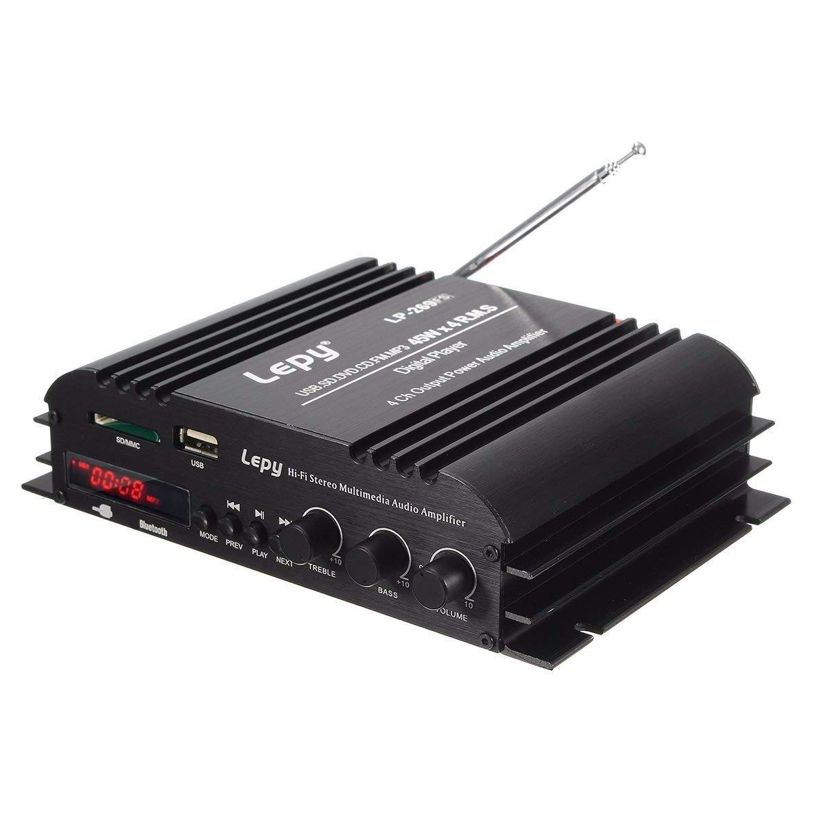 Cheap 6 Channel Car Audio Amplifier Find Wiring Kit 1600w 4 Digital Bridgeable Pro Don T Get Quotations Lepy 269fs Hifi Stereo 4channel Wireless Bluetooth Mp3 Speaker 45w