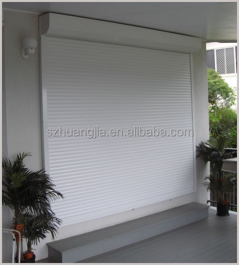 China Residential Wooden Door Aluminum Motorized rolling shutter doors
