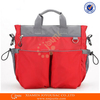 Stylish Alibaba golden supplier solid color brand new design durable baby diaper bag with bottler holder