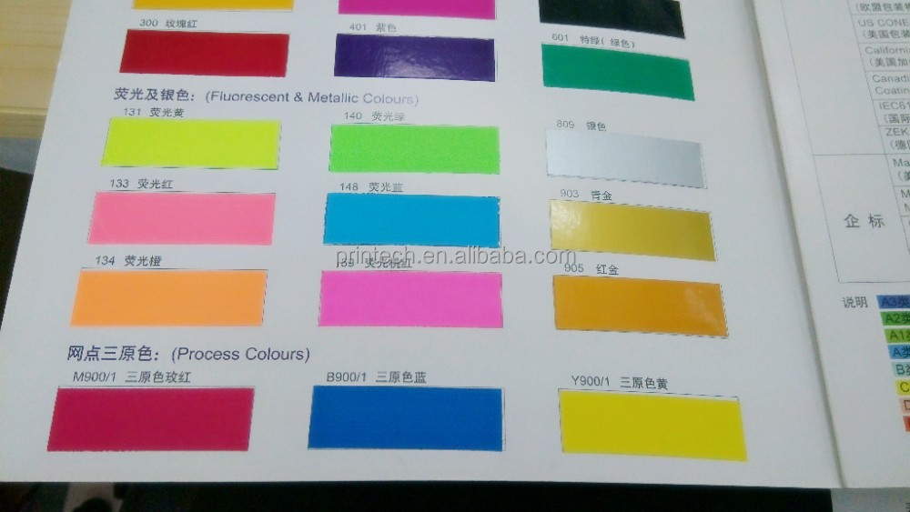 Green Offset Fluorescent Color Ink