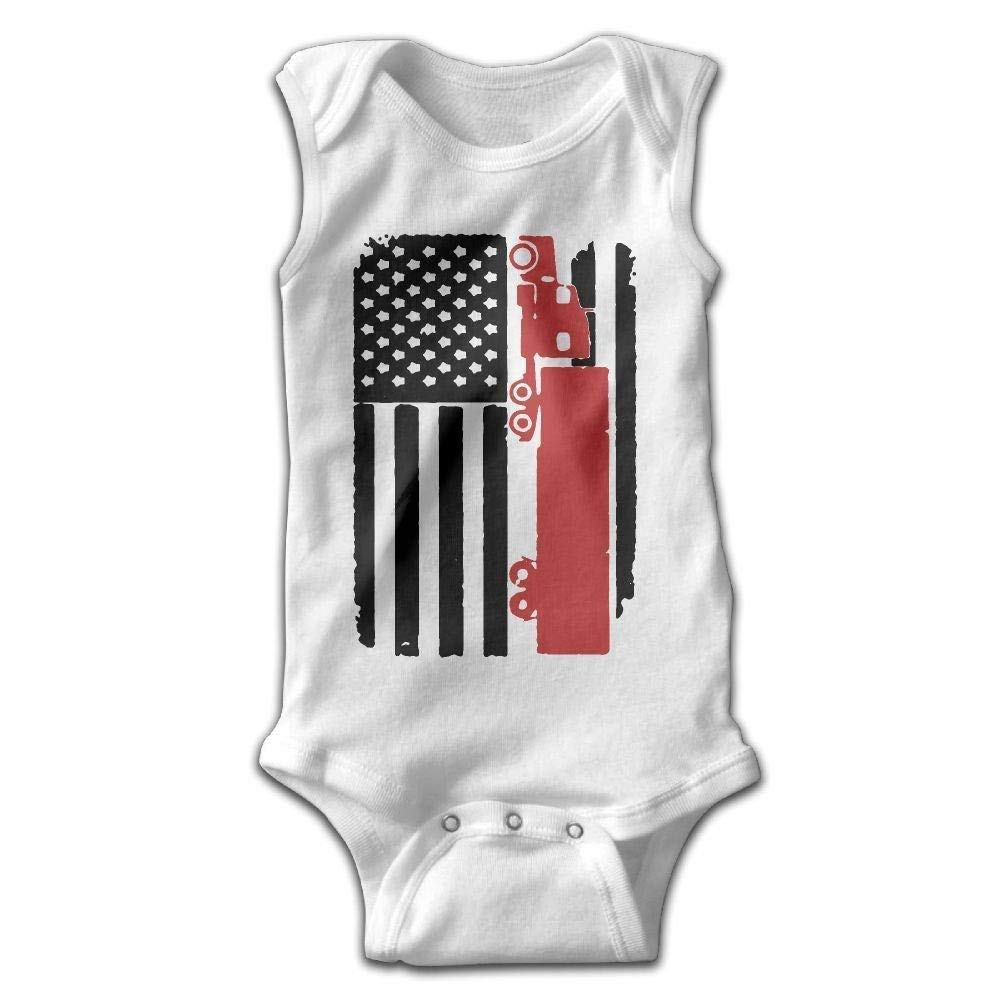 braeccesuit Independence Day Infant Baby Boys Girls Infant Creeper Sleeveless Onesie Romper Jumpsuit Black