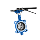 cf8m handle drive rubber seat wafer connection butterfly valve