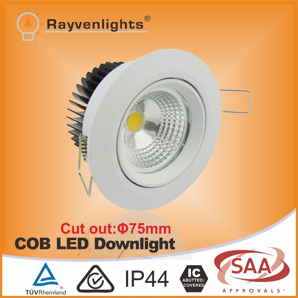 Narrow Beam Angle Round Recessed 7w Led Downlight