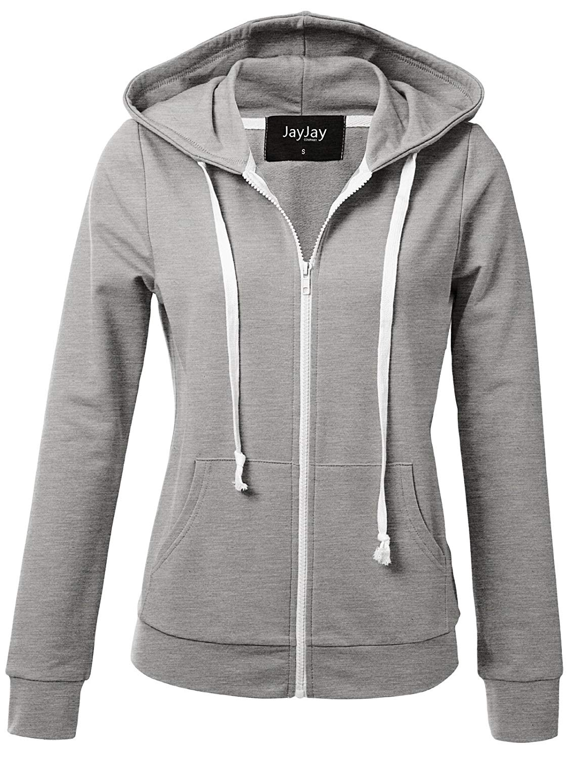 Get Quotations · JayJay Women Athlete Stretchy Full Zip Jersey Fashion  Running Hoodie Long Sleeve Jacket 33188b1ea