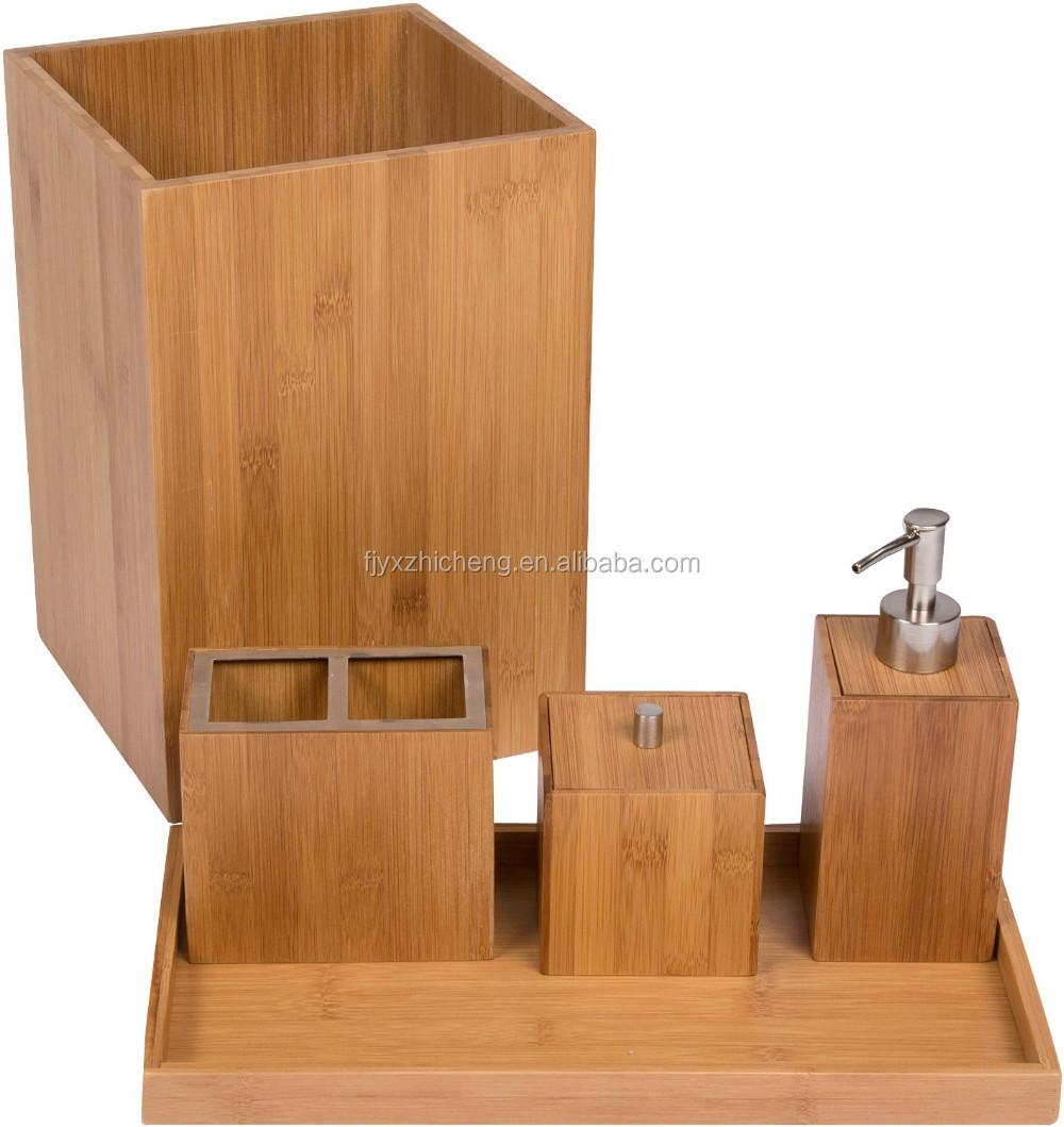 Milieuvriendelijke Bamboe Badkamer Accessoires Sets Met ...