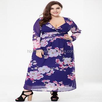 New Ladies Plus Size Dress Women Latest Formal Dress Patterns Maxi