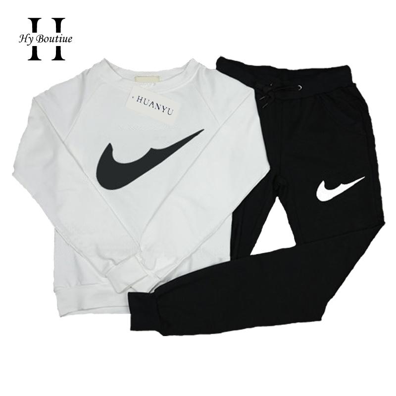 Get Quotations · Gagaopt 2015 New Sport Tracksuit Women Brand Print Active  Hoodies 2pc Set Sweatshirt+Pant White c37b2c9622