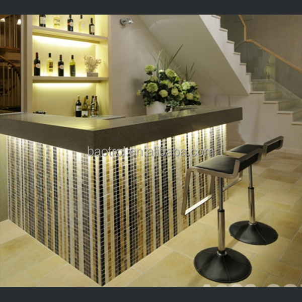 Small bar counter artificial marble counter home bar Bar counter design