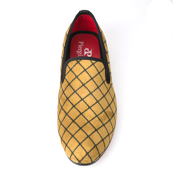 Moccasins Plaid Men Shoes Fashion Yellow wqfv71g