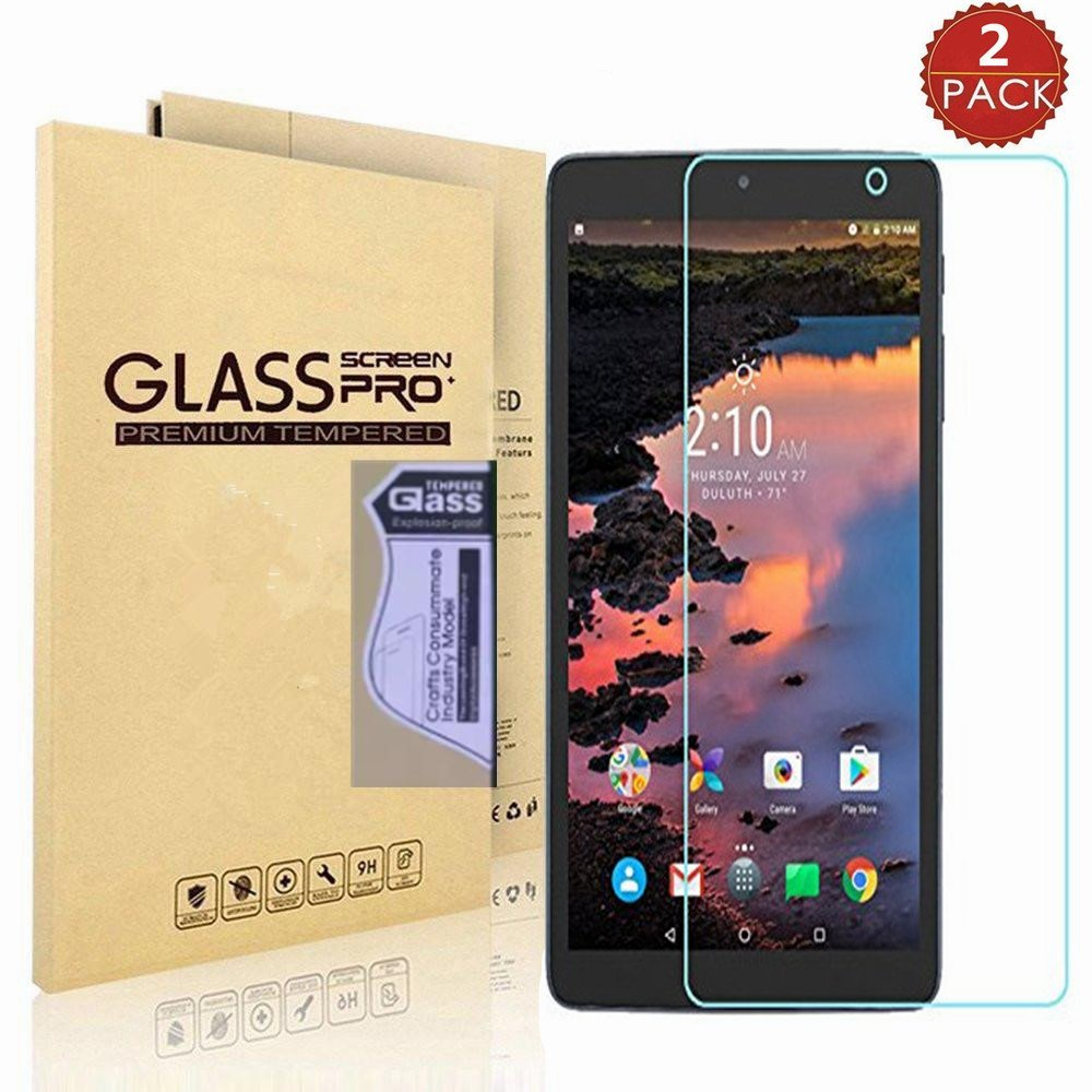 """[2 PACK] Alcatel A30 Tablet 8"""" Screen Protector, I VIKKLY [Ultra-Thin] [HD Clear] [Explosion-Proof] [Anti-Scratch] [Bubble Free] Nano Soft Skin Film Screen Protector for Alcatel A30 8-inch Tablet 2017"""