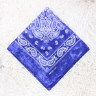 women head scarves paisley bandanas 100% cotton african head ties