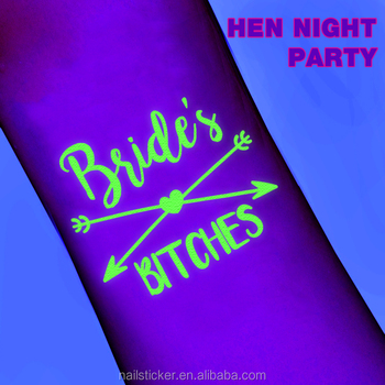 Girls Bach party hen night tattoo sets