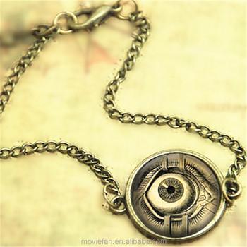 Steampunk Bracelet Human Anatomy Eyeball Evil Eye Science Medical Art Bangle Print Gl