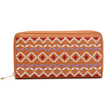 Wholesale Hot Sale Women Wallet Phone Case Embroidered PU Leather Ladies Purse Wallet