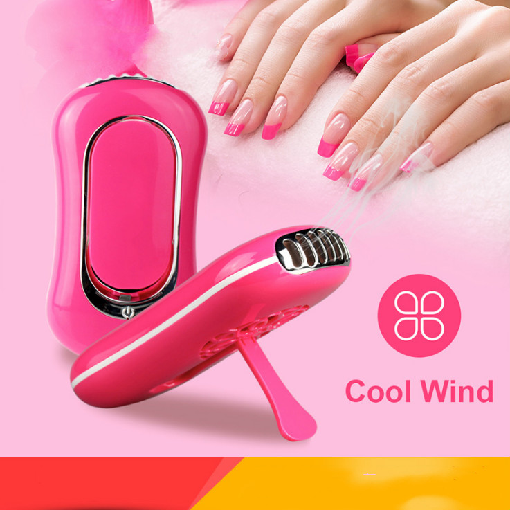 Battery powered multifunctional USB rechargeable cool wind nail polish dryer fan