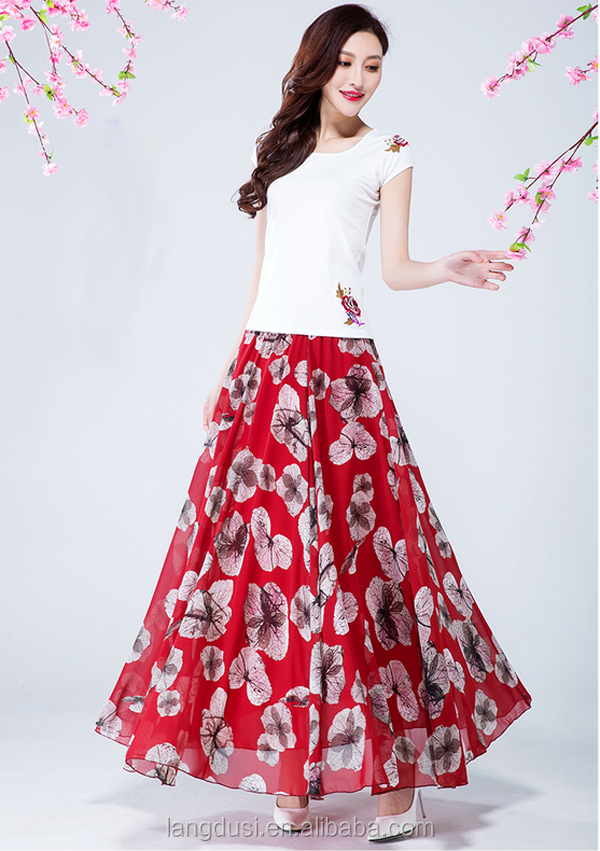 Manufacturer Clothes Women Ladies Maxi Skirt Party Wear Long Skirts ...