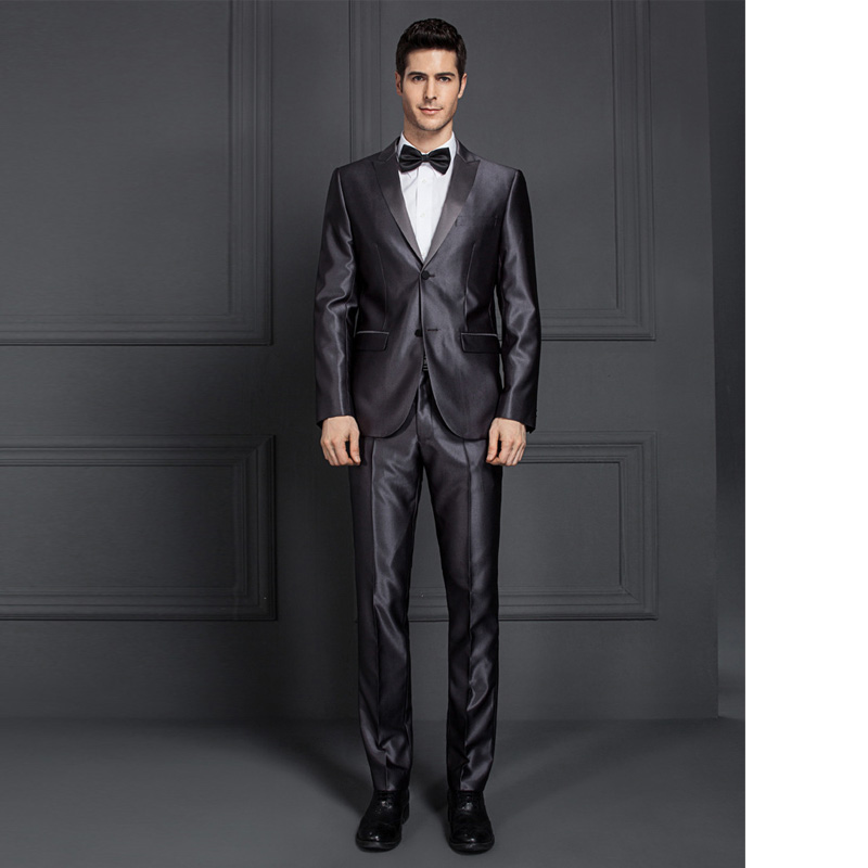 Custom tailored new pant coat design business groom wedding suit men