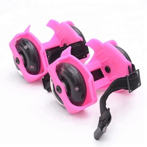 Detachable PVC roller skates outdoor sports heel roller shoes