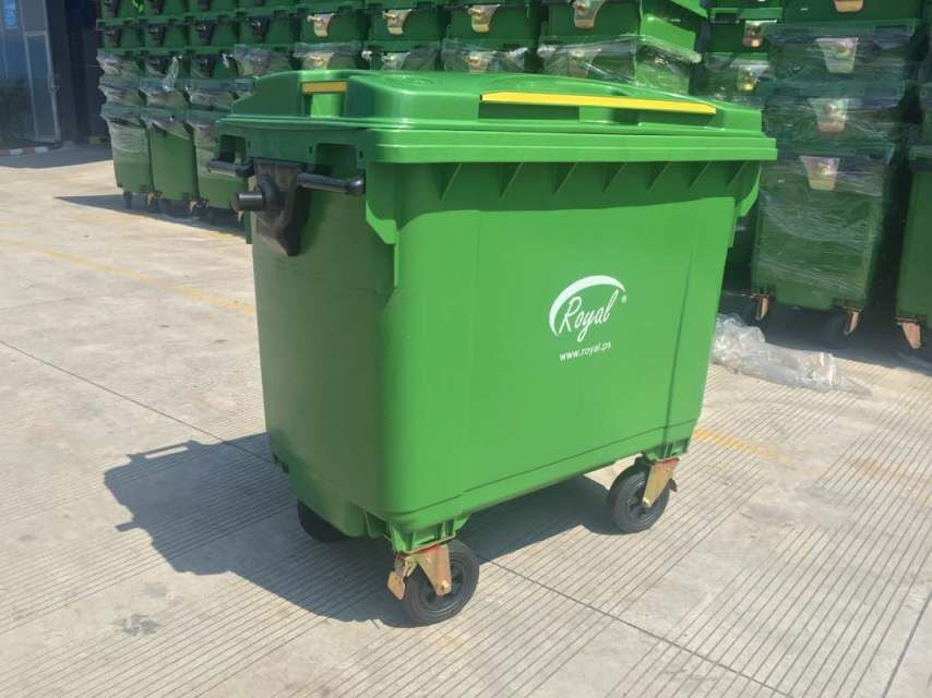 1100 Litre Foot Pedal Dustbin Large Plastic Waste Bins With Wheels ...