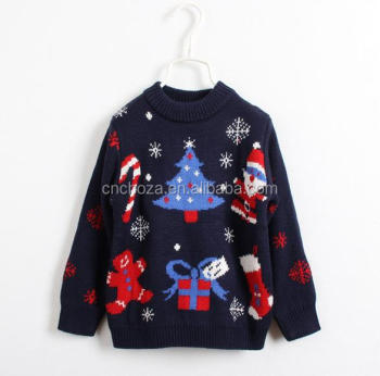 Z52299b Knitted Pullover Baby Wholesale Ugly Christmas Sweater