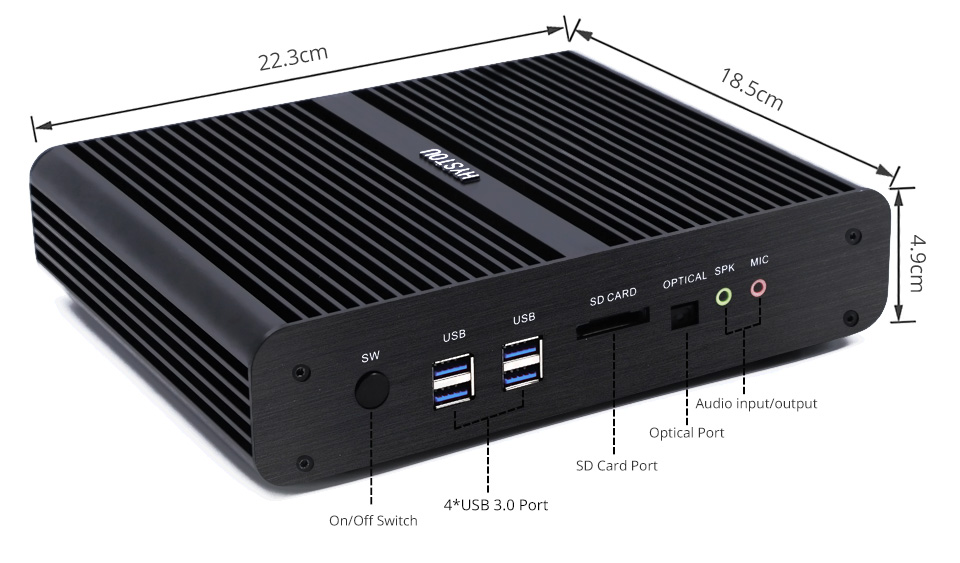 16 GB DDR3l RAM Dual Nics Deelgenoot Fanless Mini Pc Intel Core I3 i5 5200u i7 Linux Ubuntu Desktop Computer WIFI 4 K HD Pc Gamer