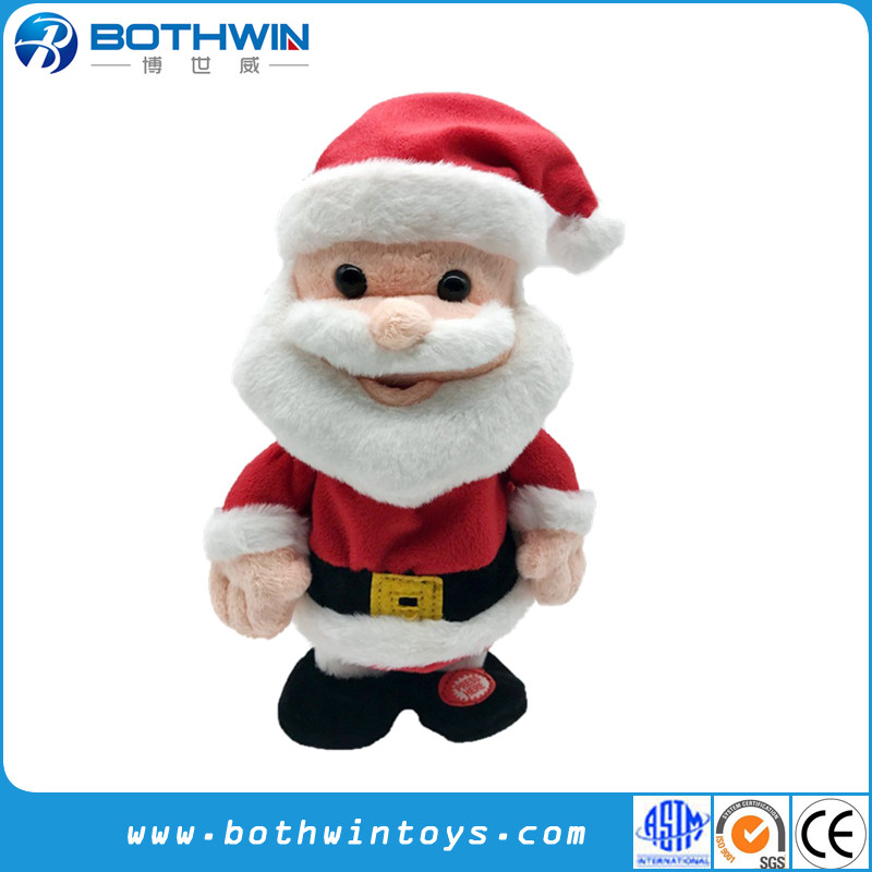 Custom Christmas Singing Stuffed Animal Reindeer Santa Claus Penguin