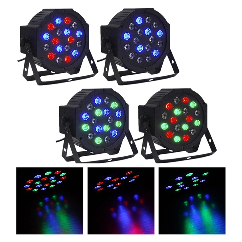 Dj Professional Led Stage Lighting 18W RGB Cheap Flat Par small party lights