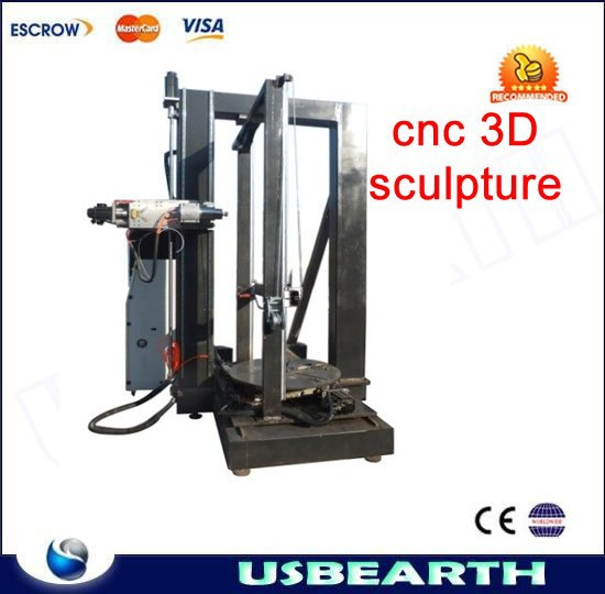LY cnc sculpture stand type OEM size 4axis engraving machine for heavy mental and stone 3D sculpture