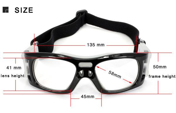 b60f6f967 Custom CE Anti-Impact Unisex Basketball Prescription Eyewear Basketball Sport  Glasses Handball Sports Glasses