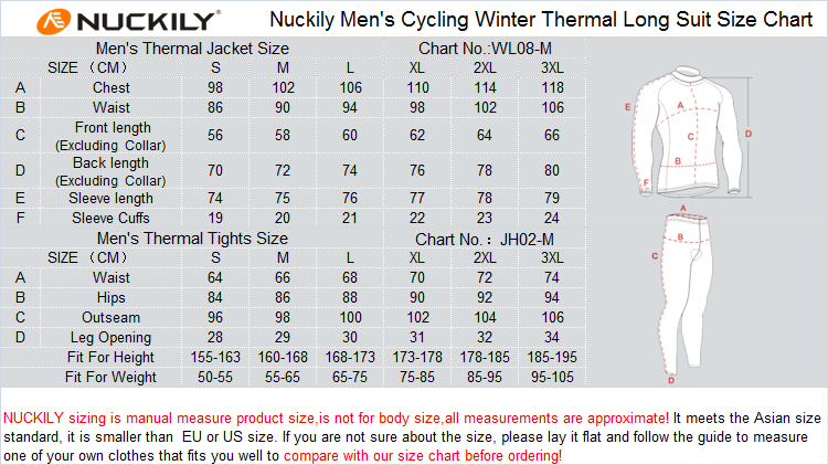 f166b90df Nuckily Cycling Thermal Set Men Fleece Wind Jacket And Cycling Tight ...