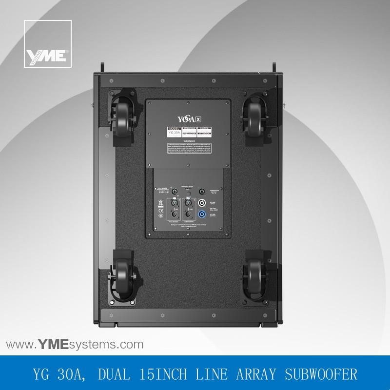 Yg 30a Dual 15 Inch Dj Bass Speaker Box Amplifier Speaker ...