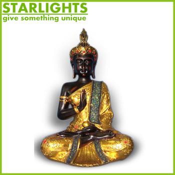 Polyresin Thai Buddha Statue Home Decoration Indoor Handicrafts