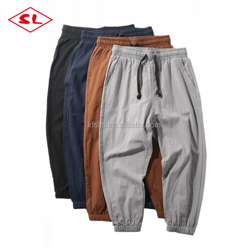 Deft design chino pants mens linen fabrics for chino pants casual style jagger pants