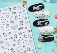 Newest Custom animal letter Finger Nail Stickers
