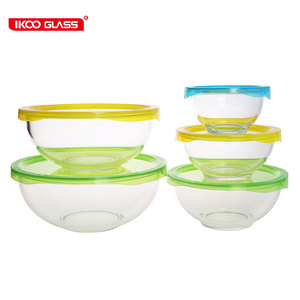Hot selling high borosilicate heat resistant glass mixing bowl salad bowls