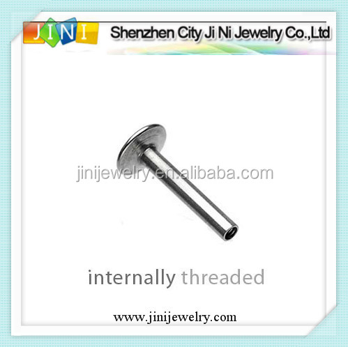 Threaded Black Titanium Anodized Surgical Steel Balls Piercing