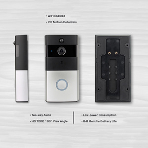 Automatic door system wireless door phone IP video door bell peephole