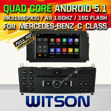 WITSON Android 5.1 AUTO CAR DVD GPS For MERCEDES-BENZ C CLASS W204 2007-2011 WITH CHIPSET 1080P 16G ROM WIFI 3G INTERNET DVR