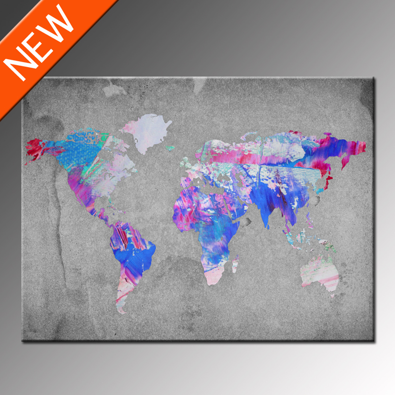 Abstract World Maps Decorating Ideas - Buy Maps Decorating Ideas ...