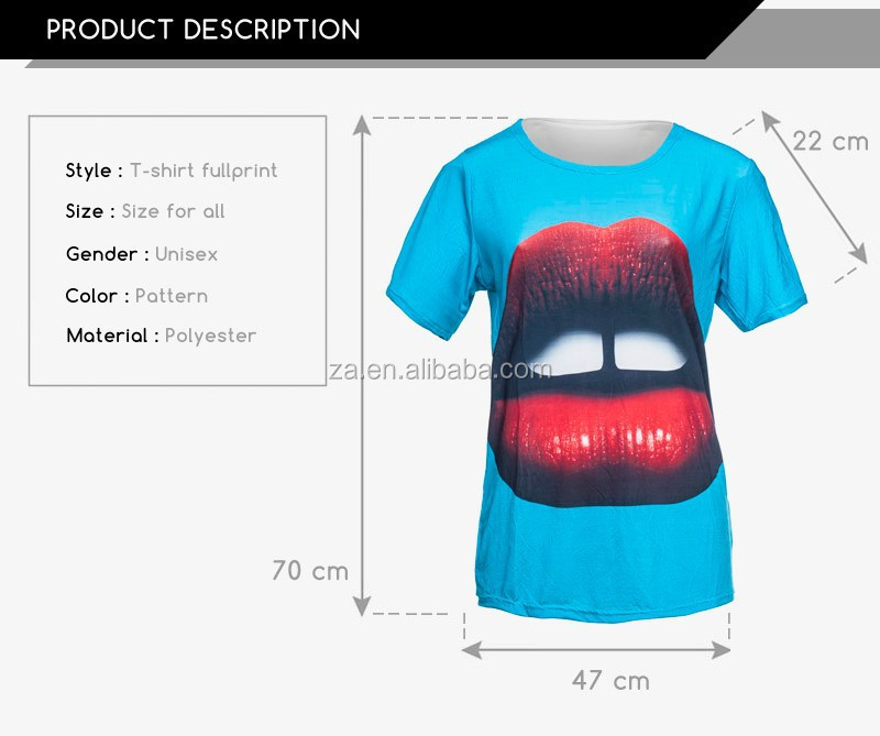 Man wear Casual style100 polyester t shirts branded 3d printing of men's t-shirt