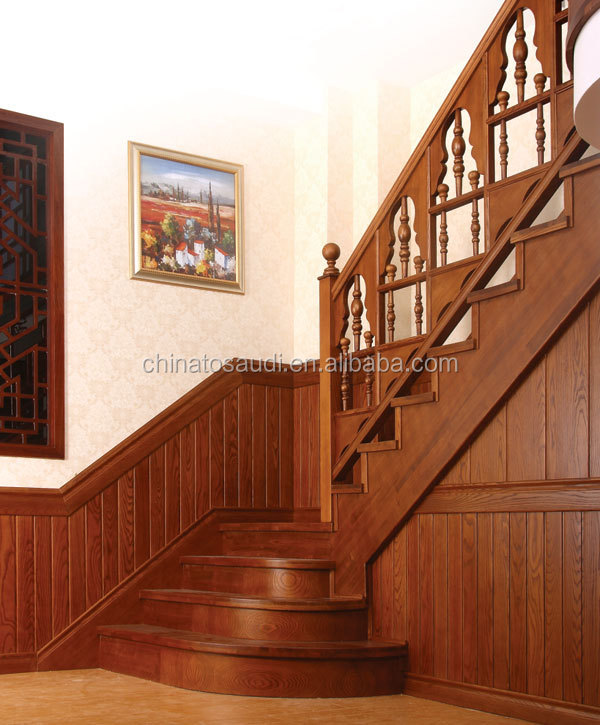 Indoor/interior Solid Wood Stairs/wooden Staircase/stair