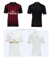 wholesale Top thailand quality cheap 2017 AC milan soccer jersey