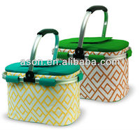 Promotional printed canvas picnic basket