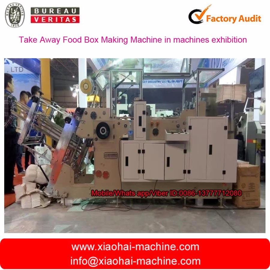 HAS VIDEO Disposable square bottom cake paper box making machine