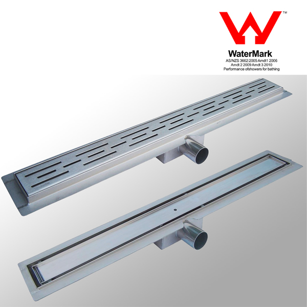 Stainless Steel Shower Linear Drain With Outlet Pipe