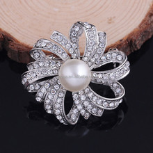 fashion pearl tie brooch wholesale Ad151