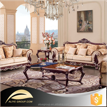 AS17  Living Room Wooden Sofa Design And Fabric Sofa Turkey